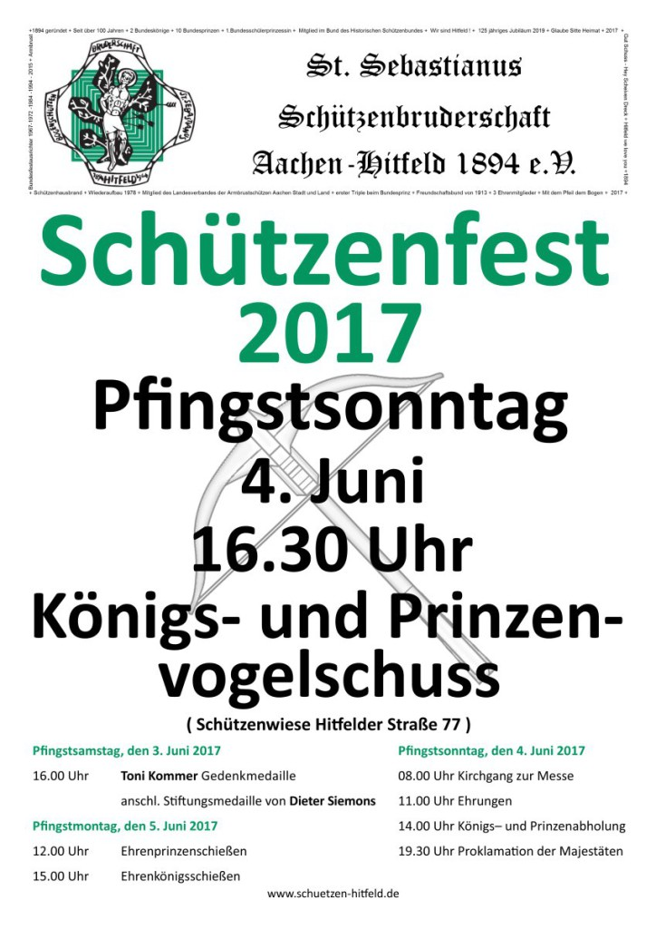 Schützenfestplakat 2017