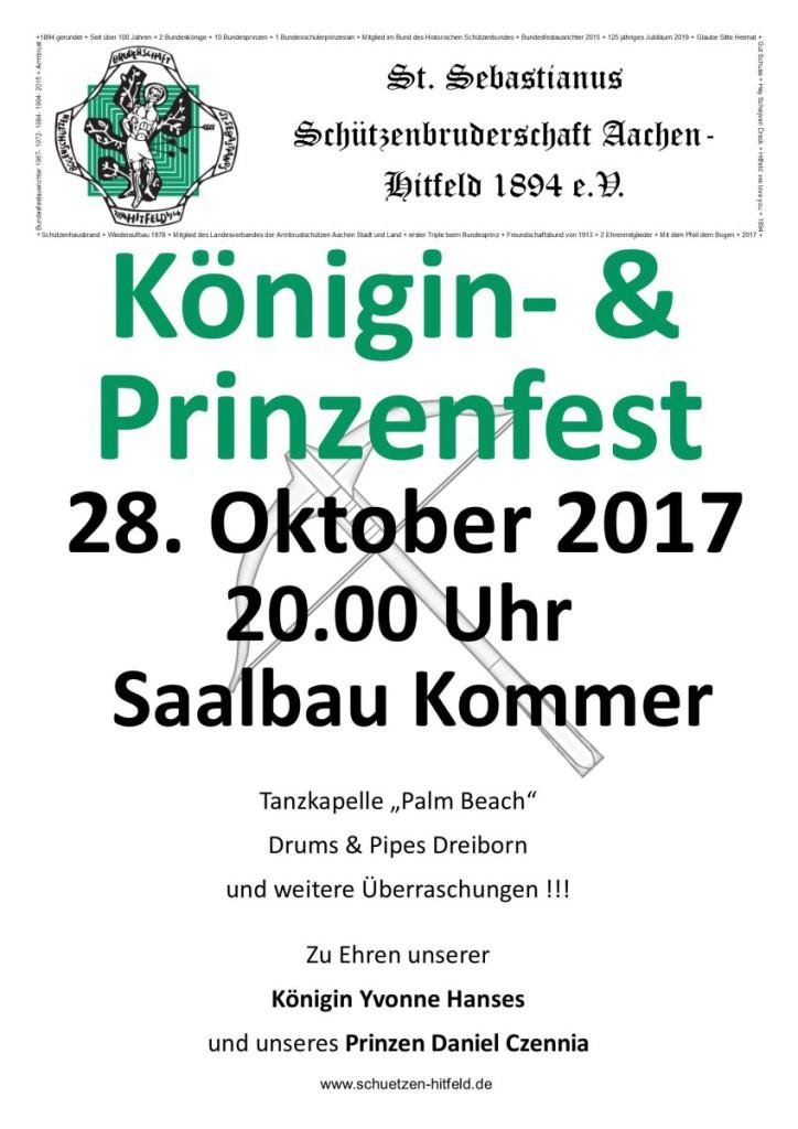 Königsballplakate 2017