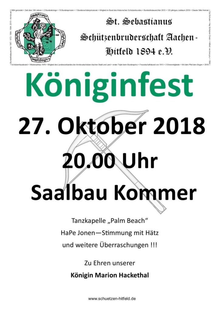 Königinfest_Plakat_2018